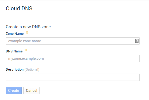 Cloud-Engine-create-new-DNS-zones